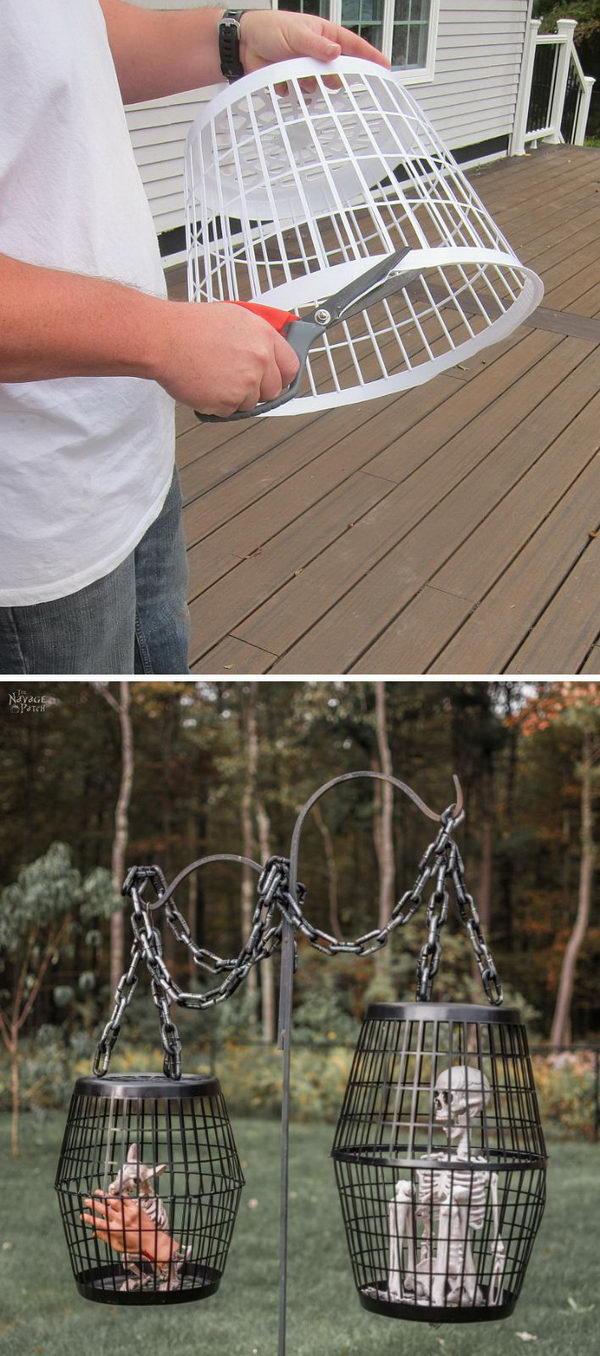 Hanging Cage Halloween Prop.