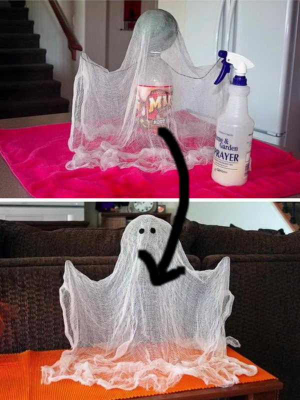 Spooky Floating Cheesecloth Ghost.