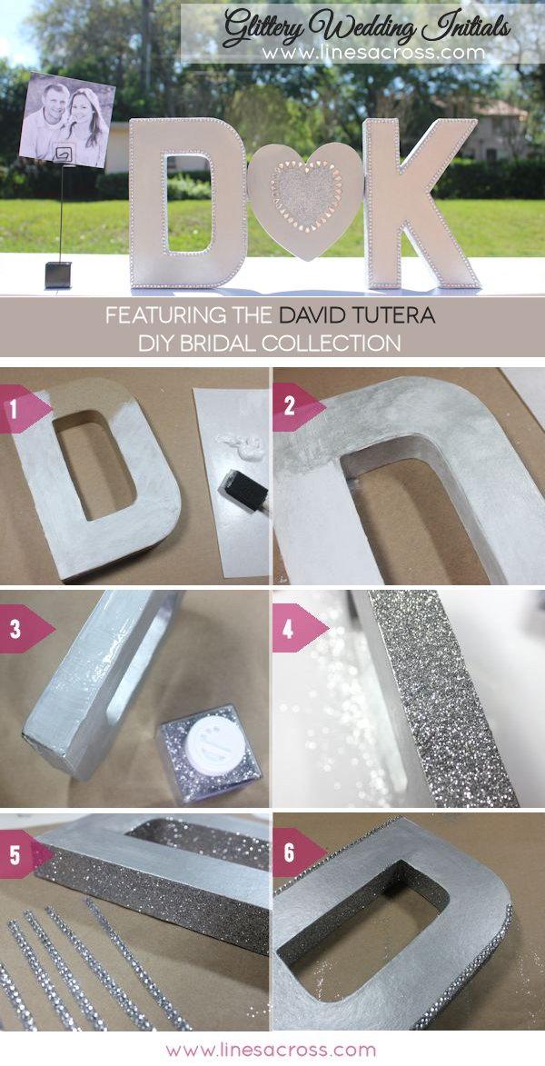 DIY Sparkling Metallic Wedding Letters Tutorial