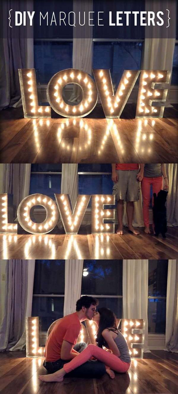 DIY Marquee Letters and Lights Tutorial