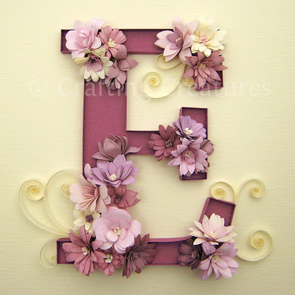 Fringed Flowers Decorated Letter