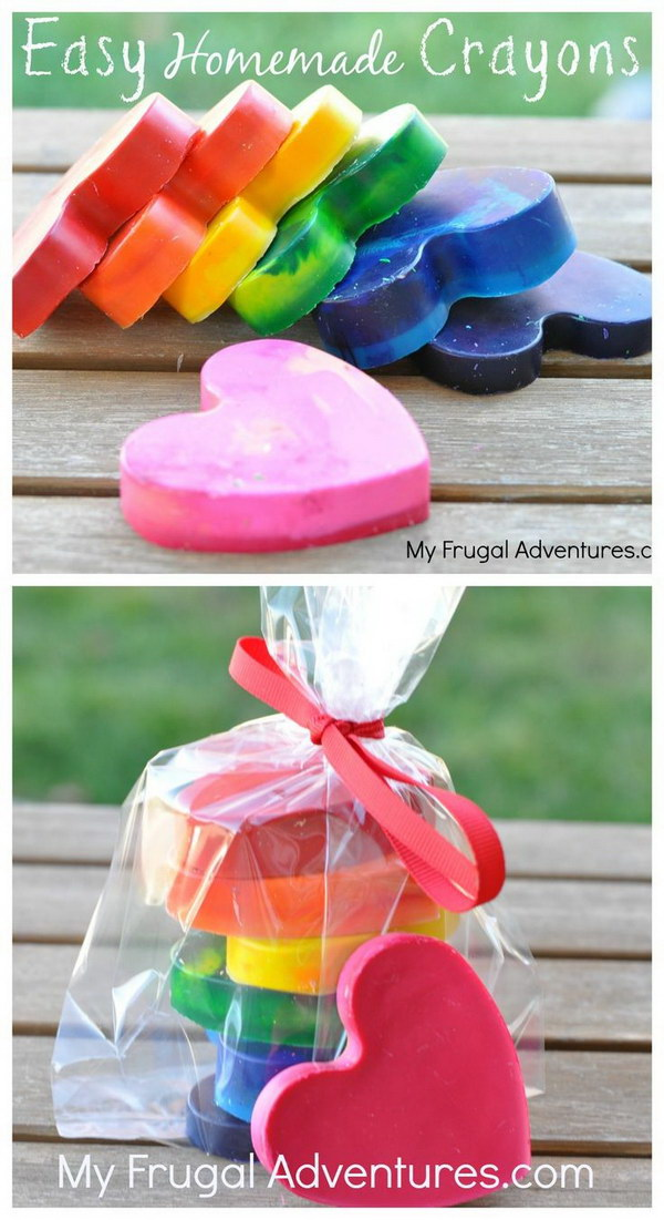 Fast And Easy Homemade Crayons.