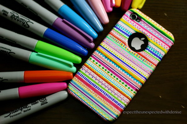 DIY Tribal Print iPhone Case.