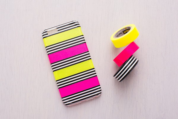 DIY Washi Tape iphone Case.