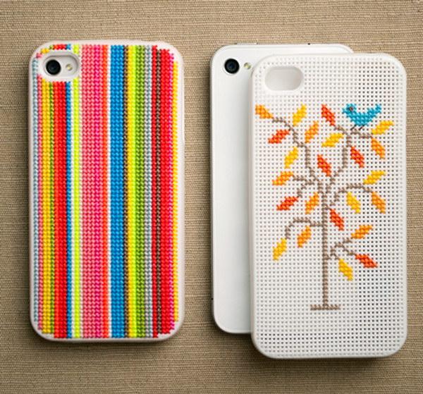 Cross-Stitch iPhone Cases.