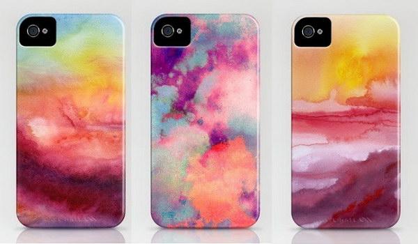 DIY Watercolor iPhone Case.