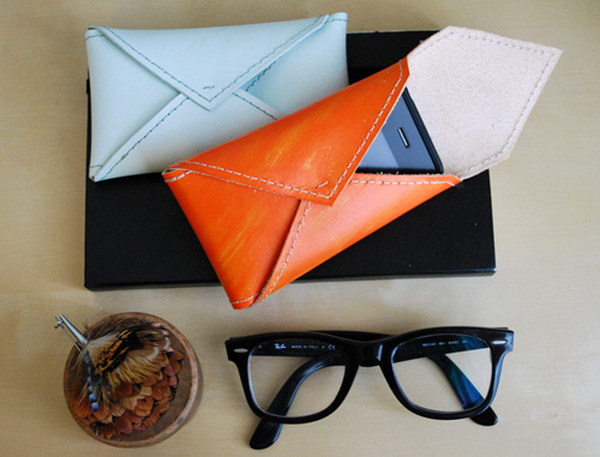 Leather Envelope Case.