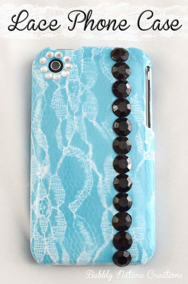 DIY Lace Phone Case.