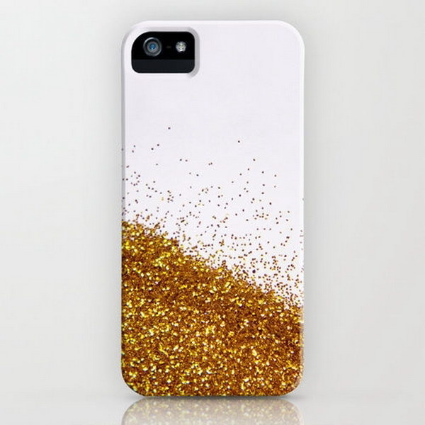 Gold and Glitter iphone Cases.