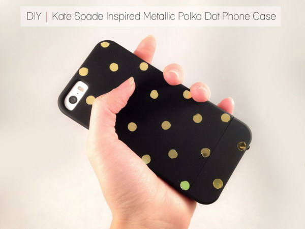 Metallic Polka Dot Phone Case.