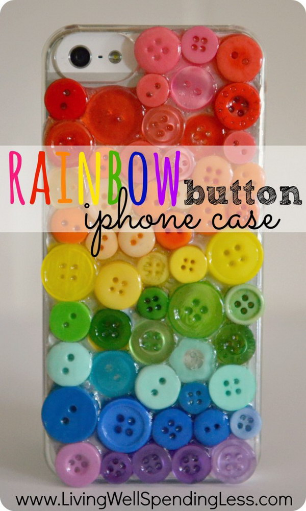 Rainbow Button iPhone Case.