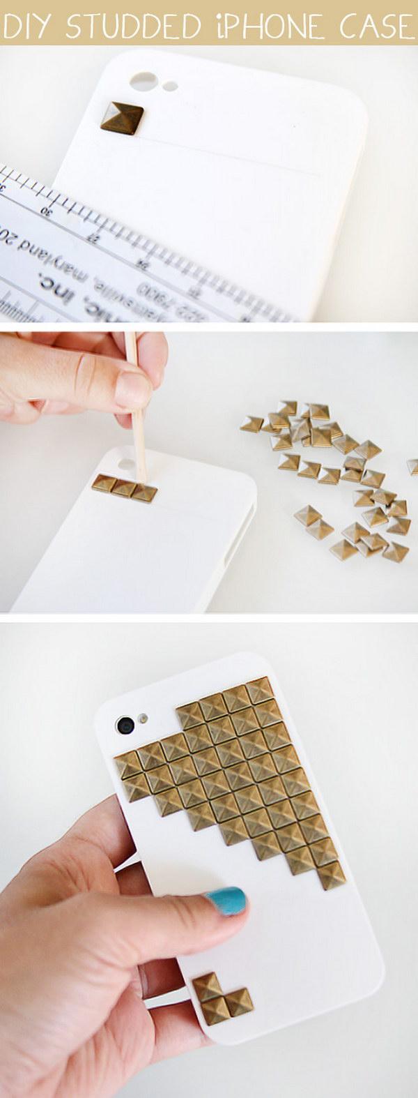 DIY Studded iPhone Case.