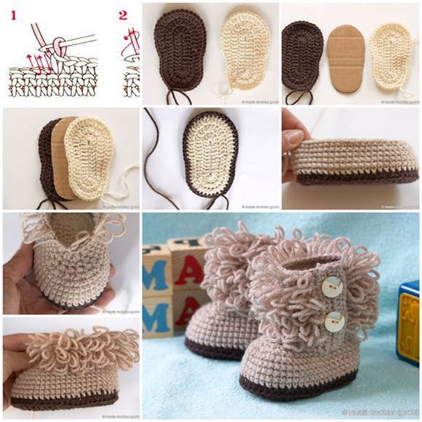 DIY UGG Style Crochet Booties.