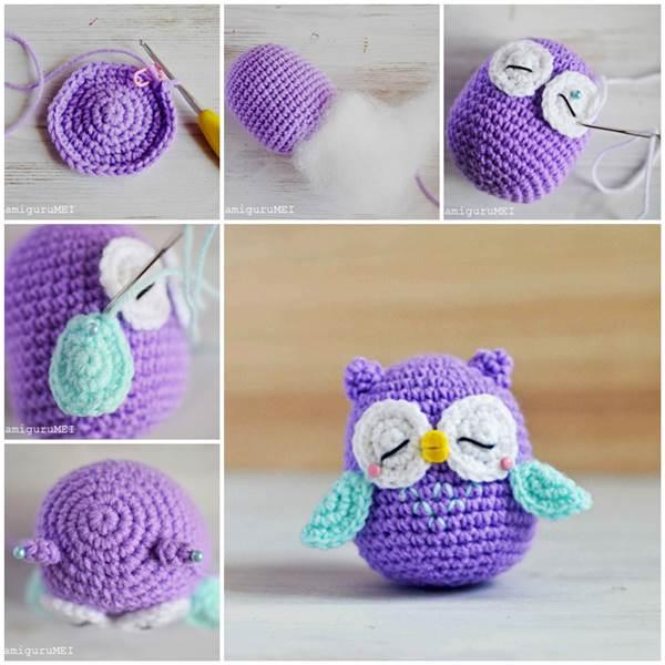 Cute Amigurumi Crochet Owl.