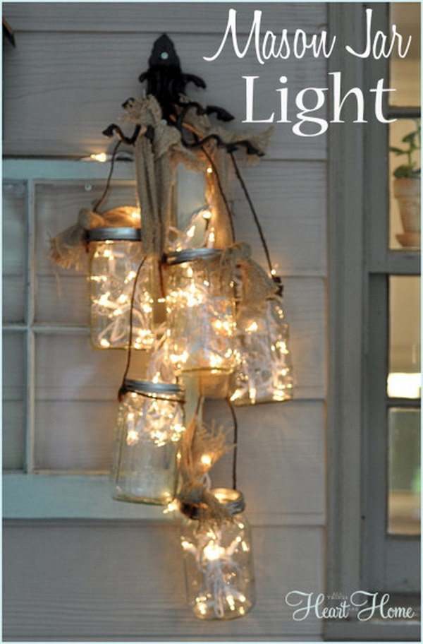DIY Mason Jar Light.