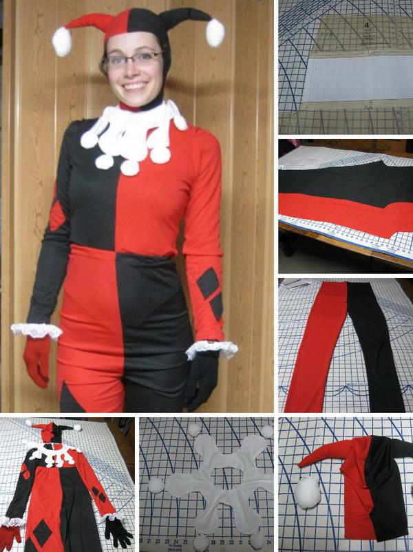 DIY Harley Quinn Costume.