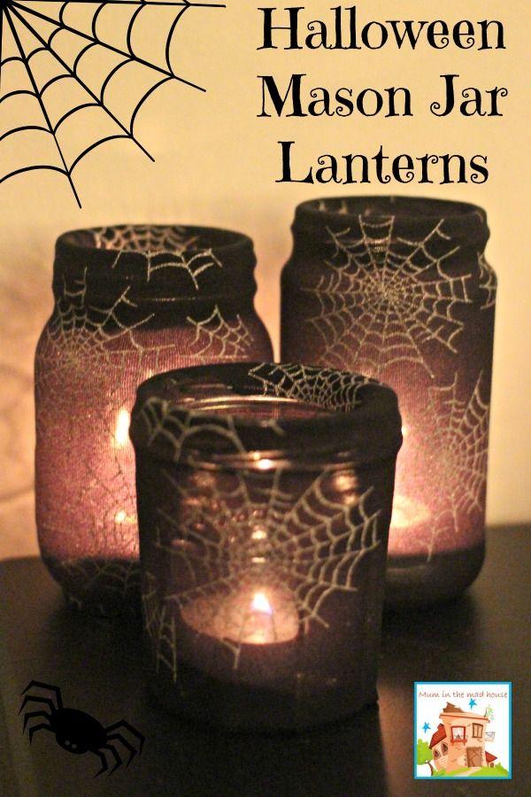 Mason Jar Halloween Lanterns.