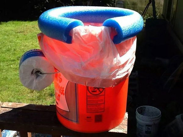 Homemade Portable Potty for Camp.