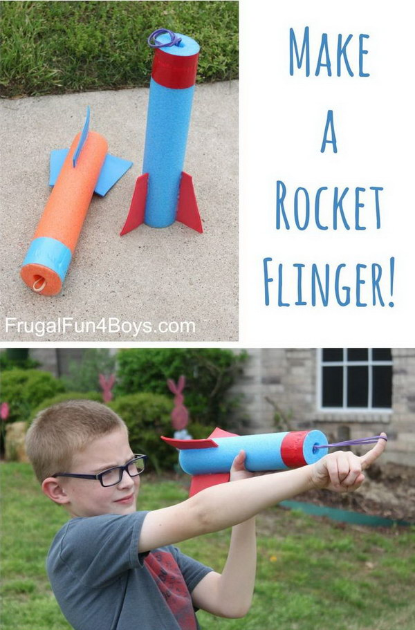 Pool Noodle Rocket Flinger for Kids.