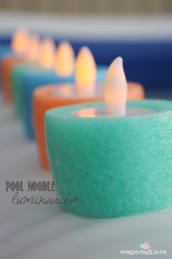 Pool Noodle Luminaries.