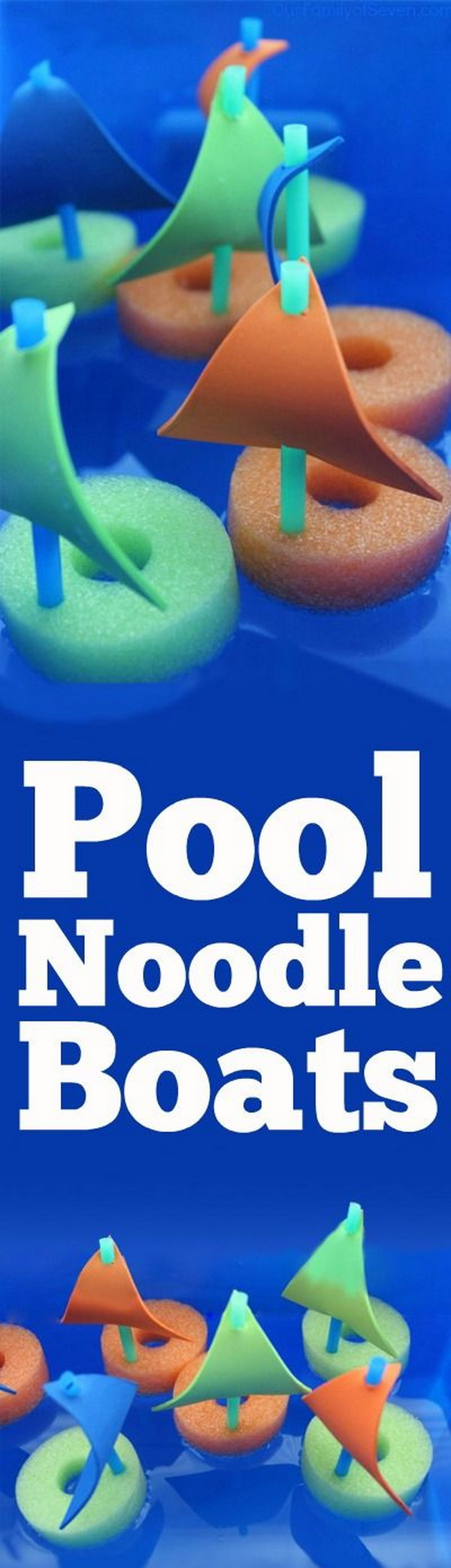 DIY Pool Noodle Boats.
