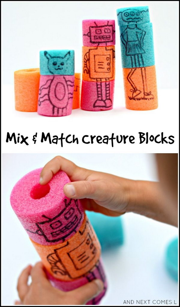 Mix & Match Creature Blocks.