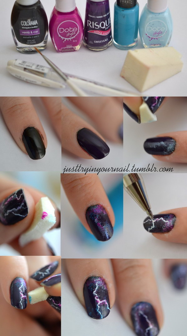 Lighting Nail Art Designs.