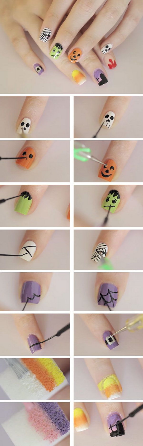 20 Step By Step Halloween Nail Art Design Tutorials 2017