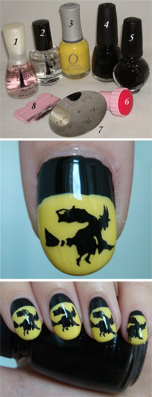 20 step by step halloween nail art tutorials