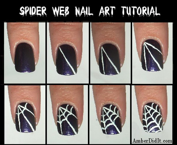 Spider Web Nail Art.