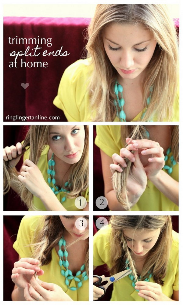 Easy Method for Getting Rid of Split Ends