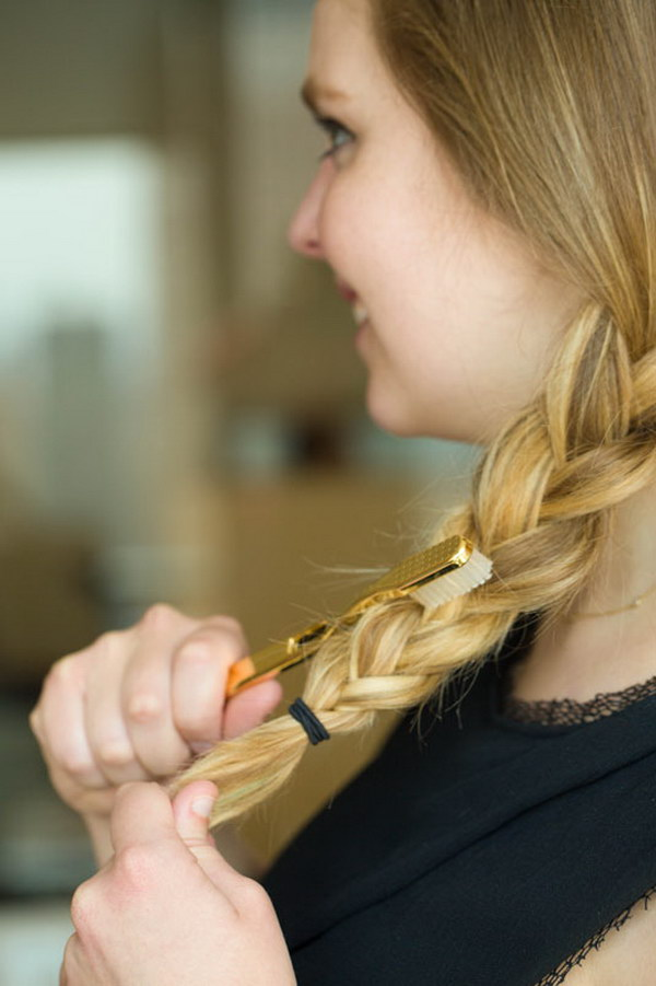 Use a Toothbrush to Get a Textured Braid. Get a textured braid by brushing your toothbrush in upward motions.
