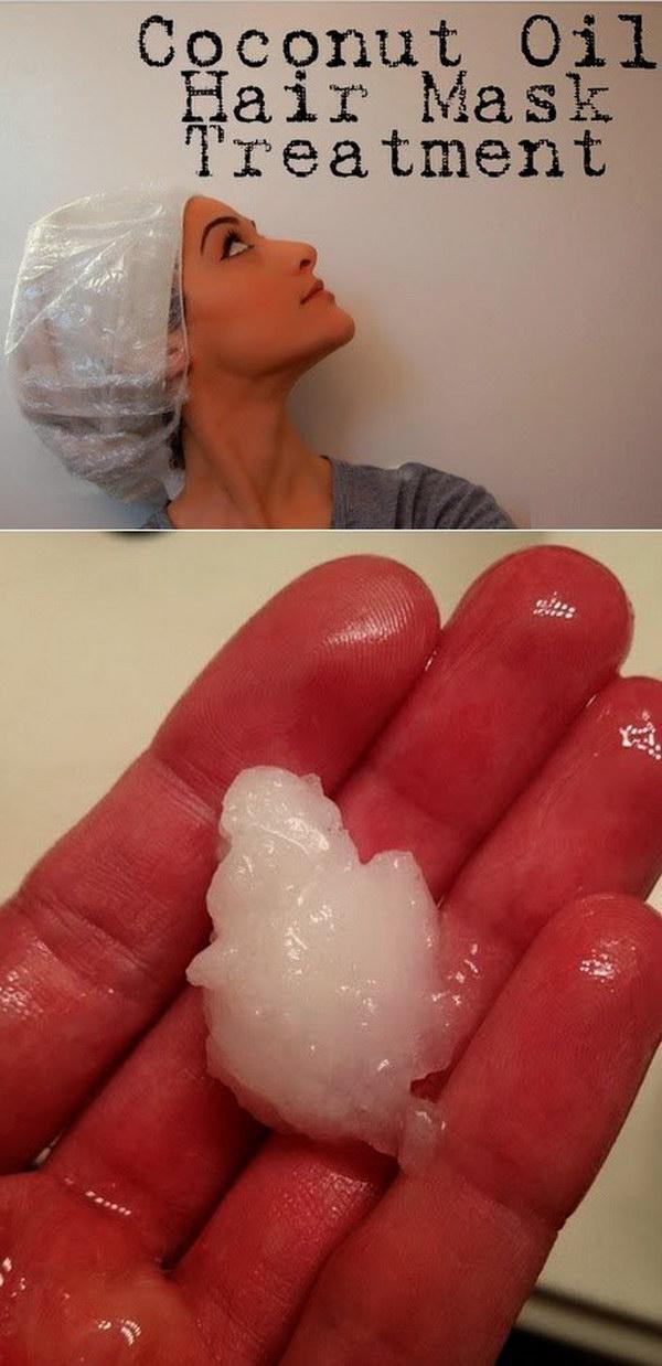 Coconut Oil Hair Mask Treatment.