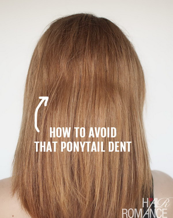 How To Avoid The Ponytail Dent?