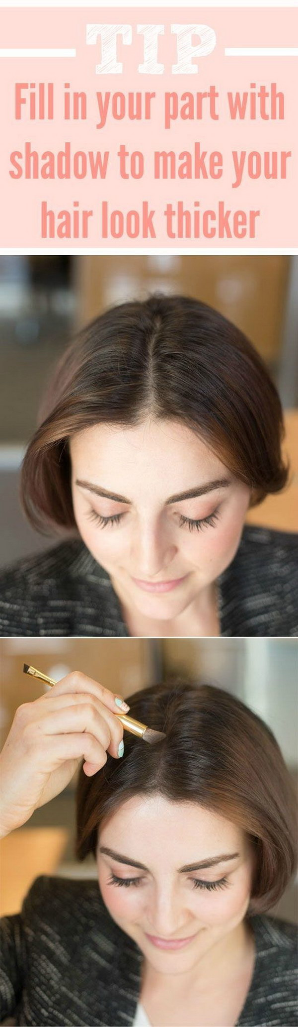 Making Your Hair Appear Thicker with Eyeshadow.
