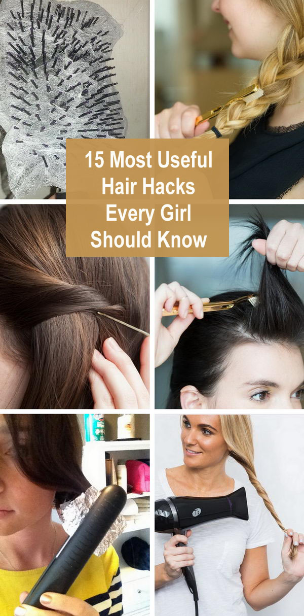 15 Most Useful Hair Hacks Every Girl Should Know.