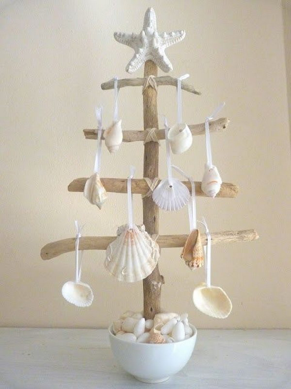 Elegant Seashell Christmas Tree