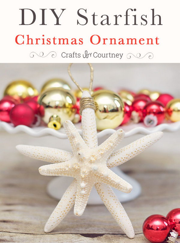 DIY Starfish Christmas Ornaments