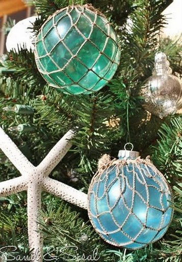 DIY Glass Float Ornaments