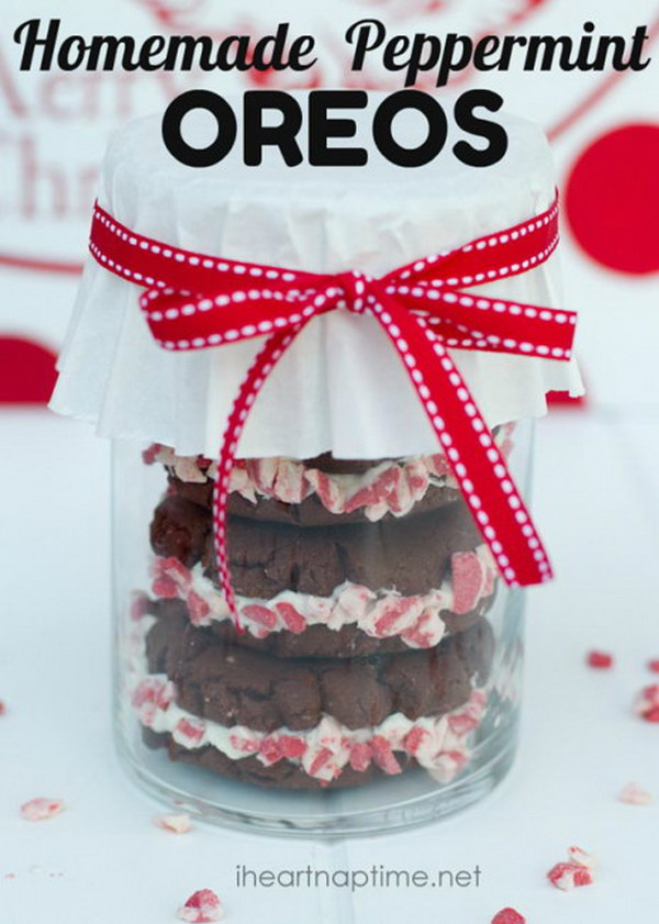 Homemade Peppermint Oreos.