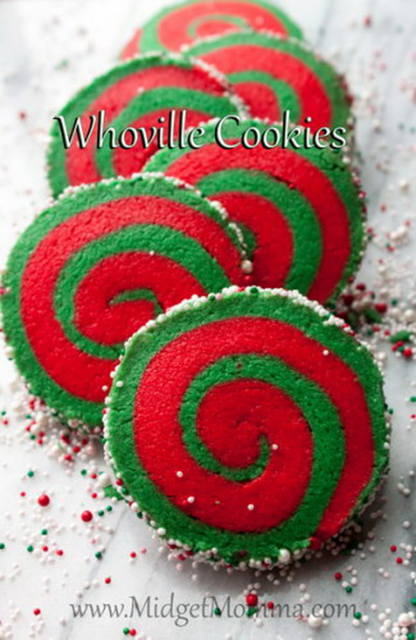 Whoville Christmas Sugar Cookies.
