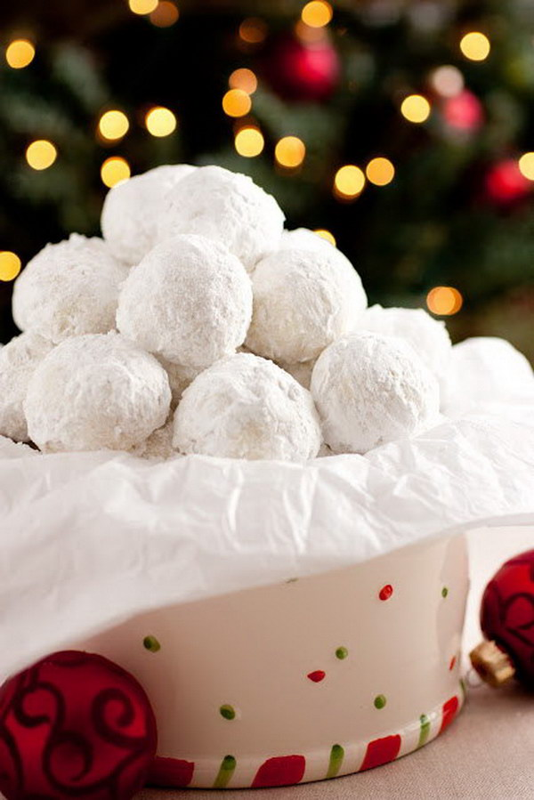 Homemade Snowball Cookies.