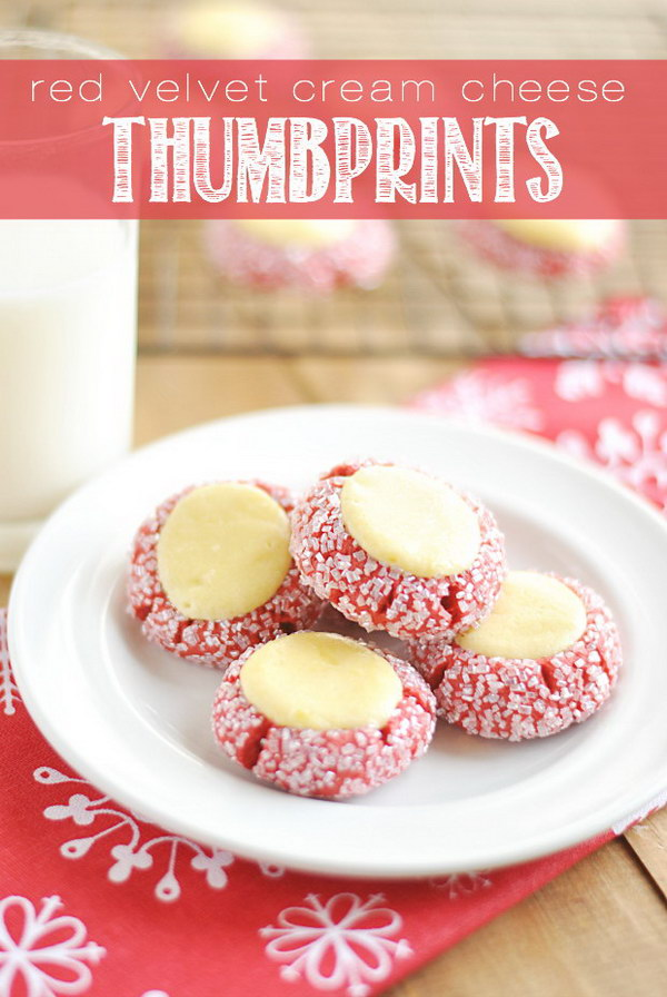 Red Velvet Cream Cheese Thumbprints.