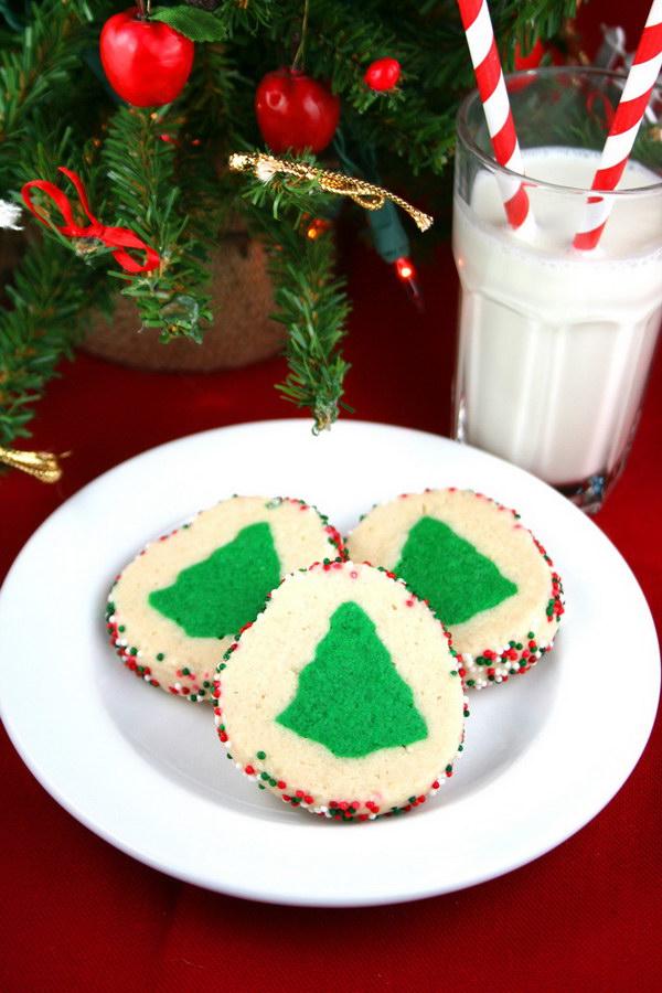 Slice 'n' Bake Christmas Tree Cookies.