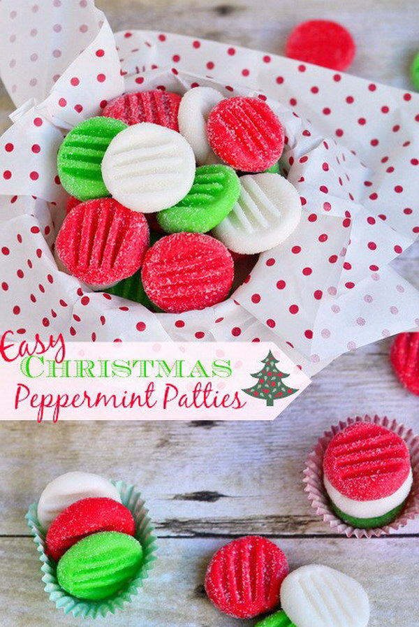 Easy Christmas Peppermint Patties.