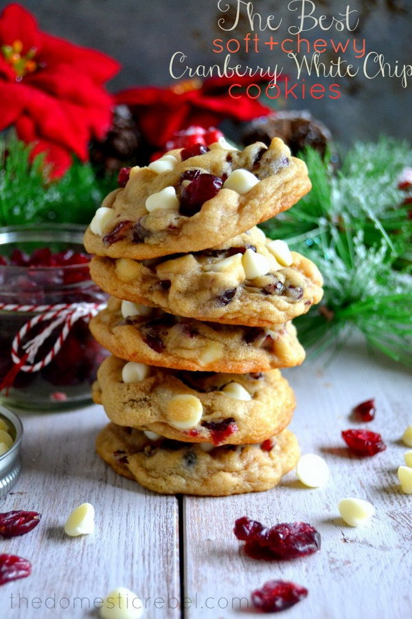 Cranberry White Chocolate Chip Cookies.