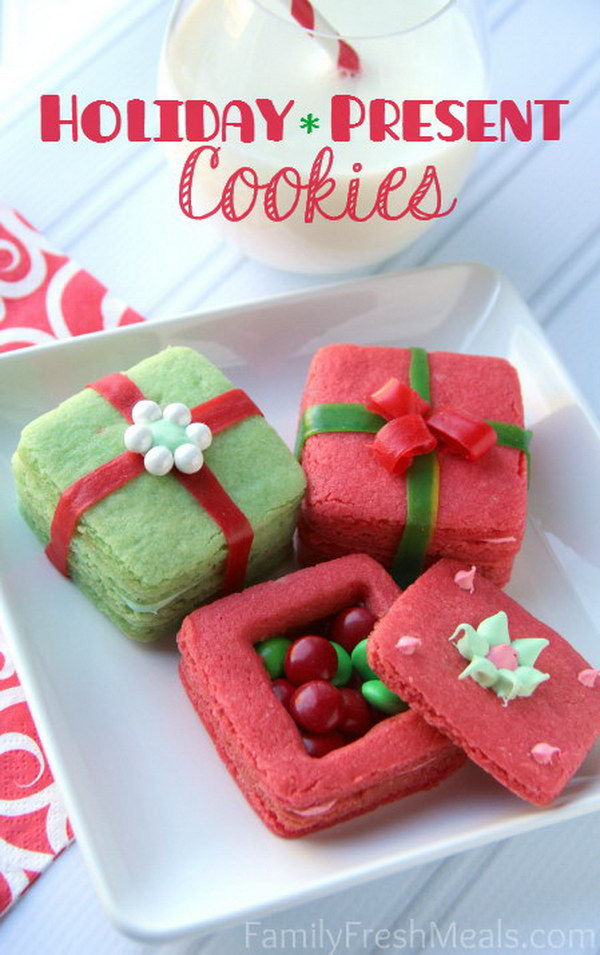holiday present cookies - Christmas Cookie Gift Ideas