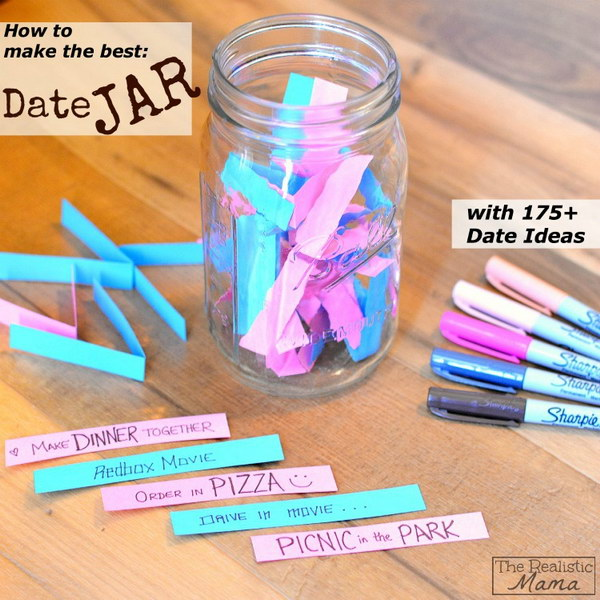 The Best Date Jar. A beautiful combination of your date ideas in this simple but creative date jar.