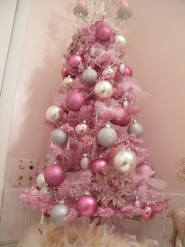 Sweet and Cute Mini Pink Christmas Tree