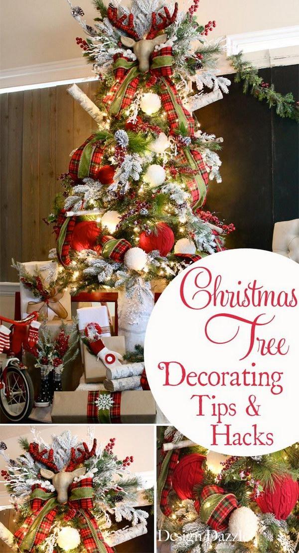Rustic Plaid Christmas Tree Tips and Tricks